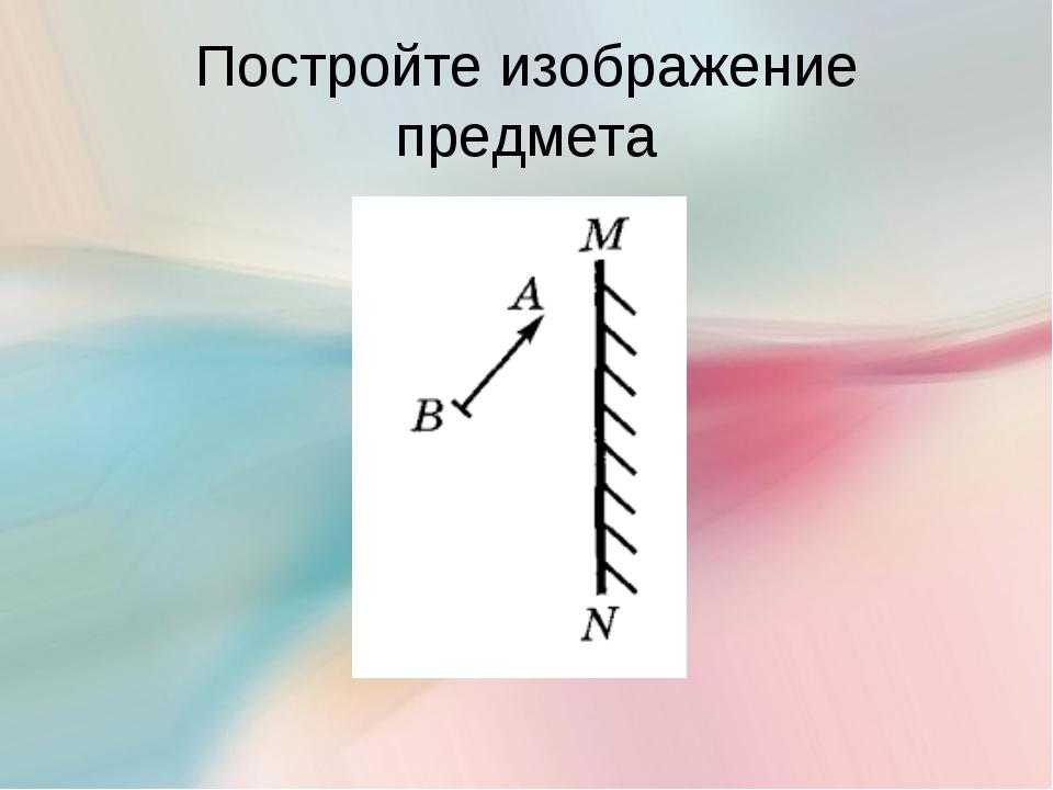 Постройте изображение предмета