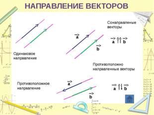 Укажите пары коллинеарных (сонаправленных) векторов, которые определяются ст