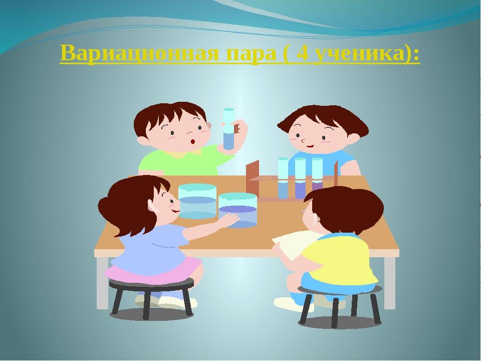 Вариационная пара ( 4 ученика):