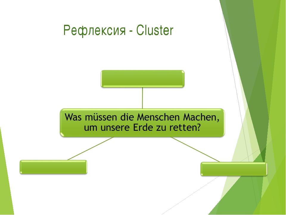 Рефлексия - Cluster