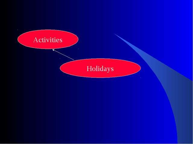 Holidays Activities