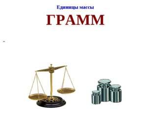 Единицы массы ГРАММ