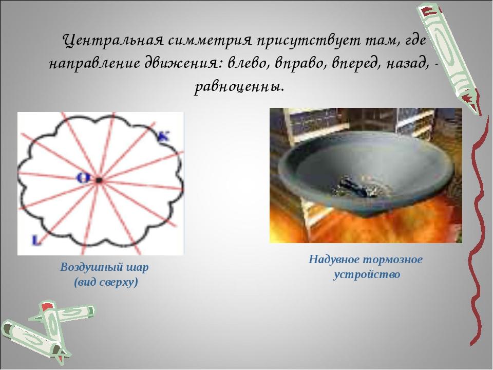 Центральная симметрия присутствует там, где направление движения: влево, впр...