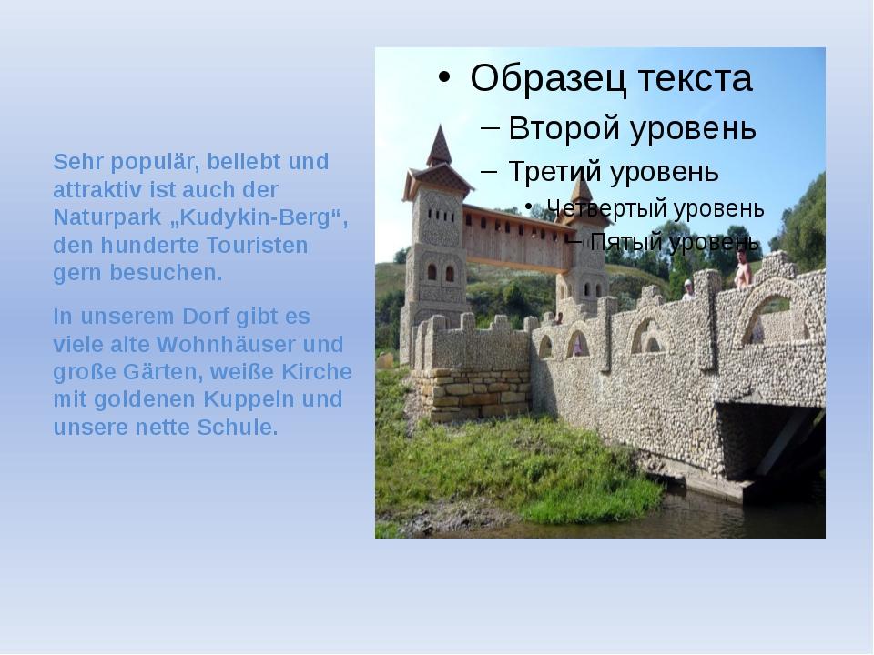 Im Zentrum des Dorfes befinden sich ein Denkmal für die gefallenen Sowjetsold...