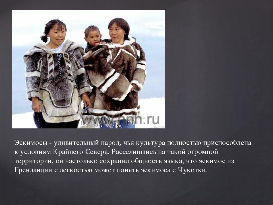 Эскимосы - удивительный народ, чья культура полностью приспособлена к условия...