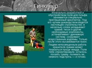 Гинкипер Изначально разработкой и обустройством поля для гольфа занимается сп