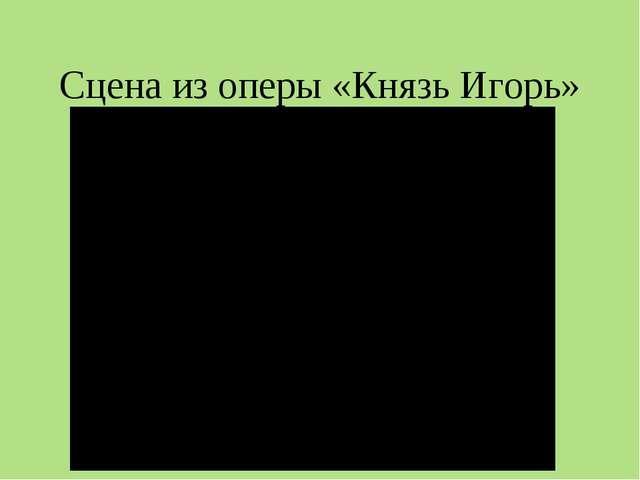 Сцена из оперы «Князь Игорь»