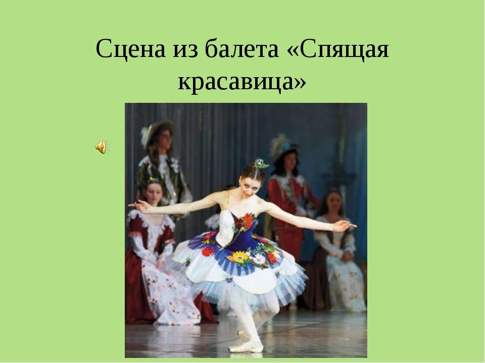 Сцена из балета «Спящая красавица»