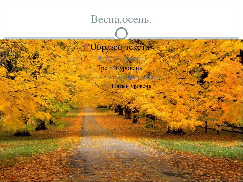 Весна,осень.
