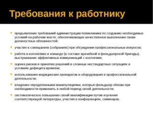 Требования к работнику предъявление требований администрации поликлиники по с