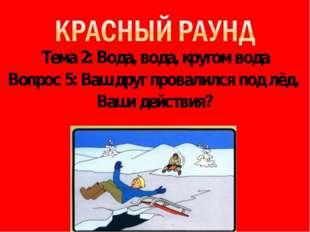 Тема 2: Вода, вода, кругом вода Вопрос 5: Ваш друг провалился под лёд. Ваши д