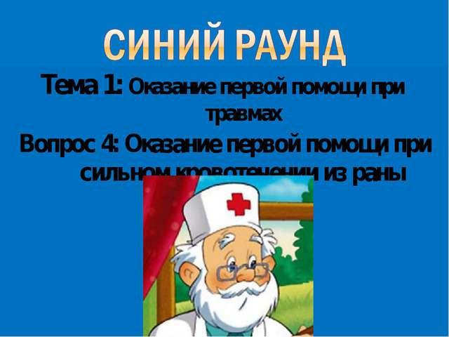 Тема 1: Оказание первой помощи при травмах Вопрос 4: Оказание первой помощи п...