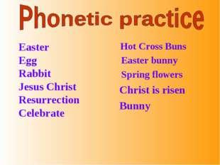 Easter Egg Rabbit Jesus Christ Resurrection Celebrate Hot Cross Buns Easter