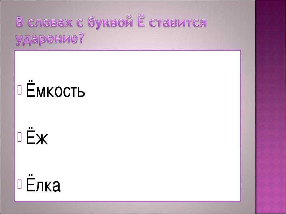 Ёмкость Ёж Ёлка