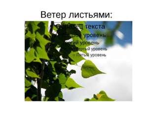 Ветер листьями: