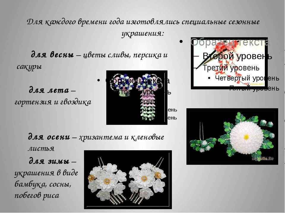Для каждого времени года изготовлялись специальные сезонные украшения: для ве...