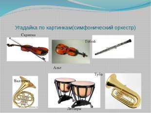 Угадайка по картинкам(симфонический оркестр) Скрипка Гобой Гобой Альт Туба Ва