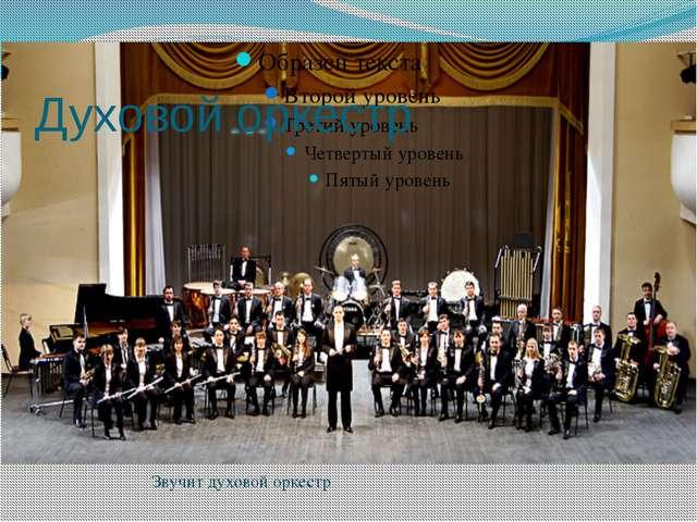 Духовой оркестр Звучит духовой оркестр