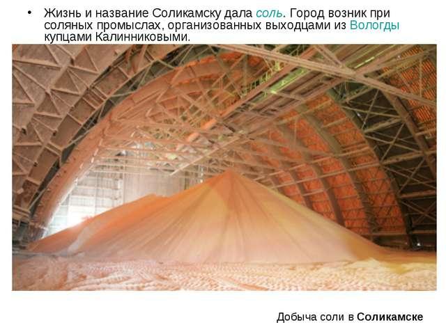 Жизнь и название Соликамску дала соль. Город возник при соляных промыслах, ор...