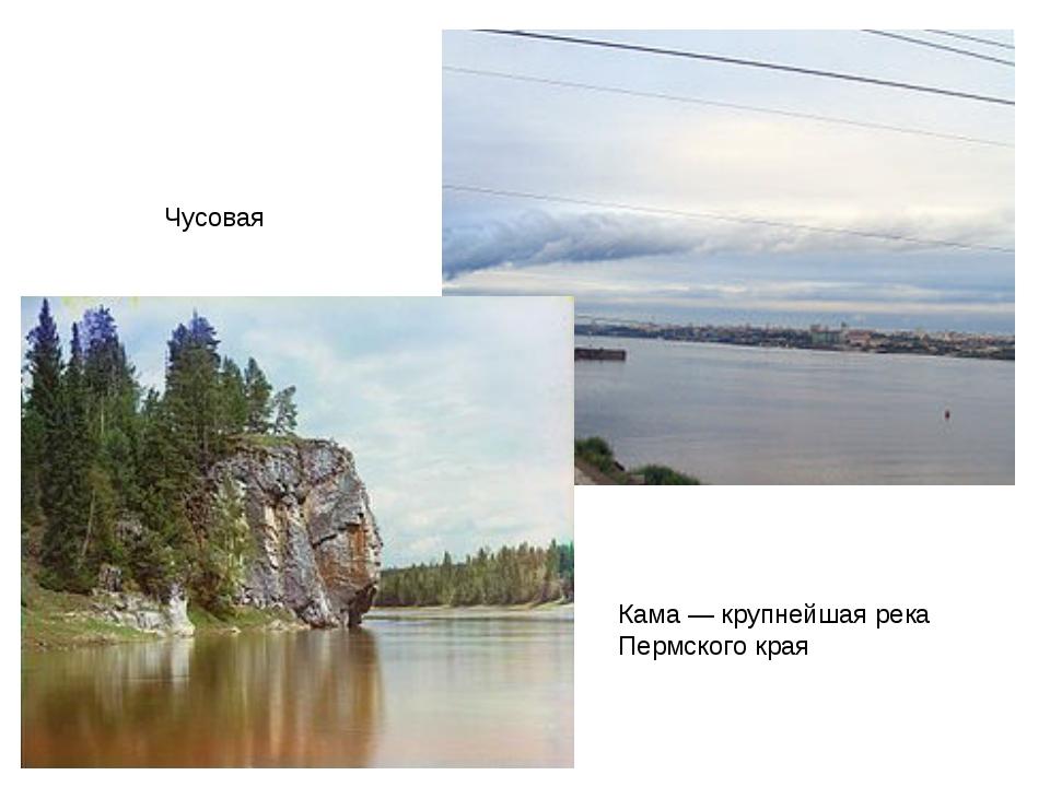 Кама— крупнейшая река Пермского края Чусовая