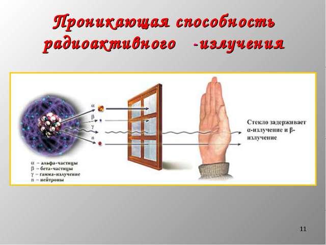 * Проникающая способность радиоактивного β-излучения