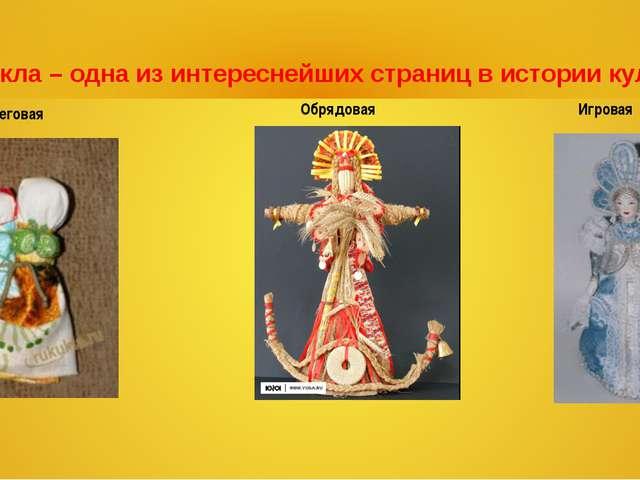 Обереговая Обрядовая Игровая Кукла – одна из интереснейших страниц в истории...