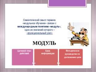 Семантический смысл термина «модульное обучение» связан с международным понят