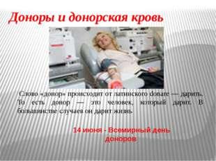 """принципы на которых основан институт """"донорства крови"""": -Во-первых - дело эт"""