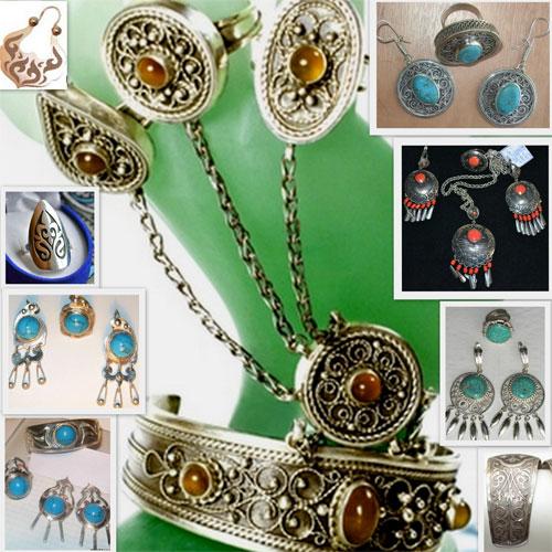 Казахские национальные ювелирные украшения