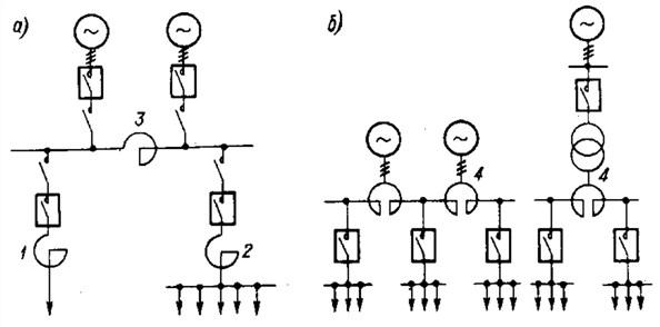 Схема включения токоограничивающих реакторов
