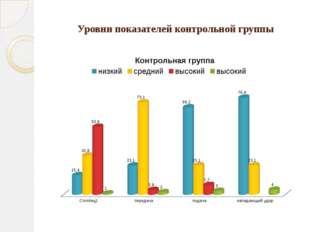 Уровни показателей контрольной группы