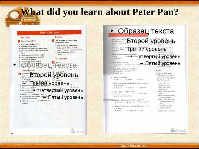 What did you learn about Peter Pan?
