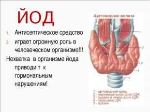 Антисептическое средство играет огромную роль в человеческом организме!!! Нех