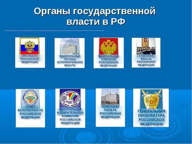 Органы государственной власти в РФ