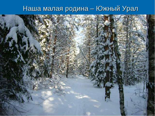 Наша малая родина – Южный Урал