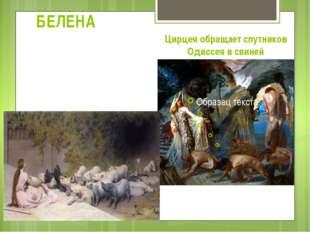 БЕЛЕНА В итальянских средневековых книгах сохранился рецепт Цирцеи, который о