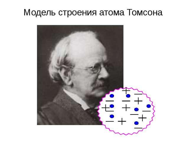 Модель строения атома Томсона