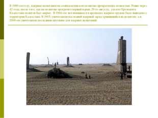 В 1989-ом году, ядерные испытания на семипалатинском полигоне прекратились по