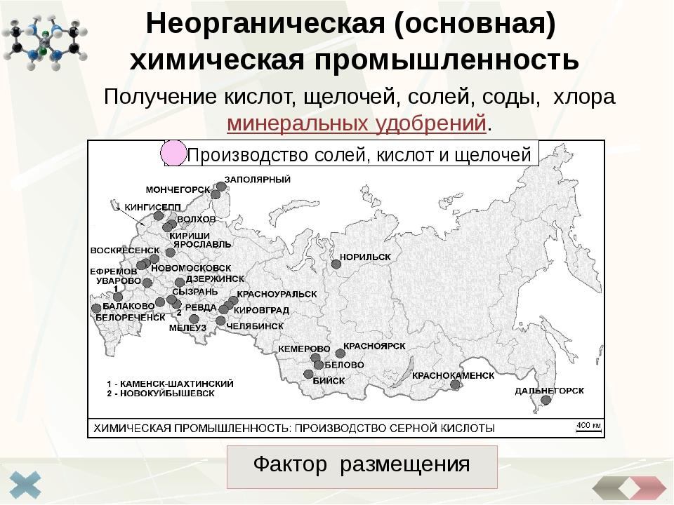 Сырьевой Горно-химическая промышленность Отрасль горной промышленности, заним...