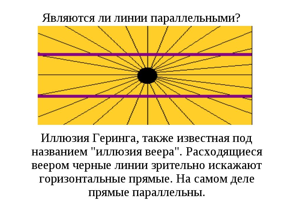 Являются ли линии параллельными? Иллюзия Геринга, также известная под названи...