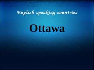 English-speaking countries Ottawa
