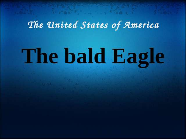The United States of America The bald Eagle