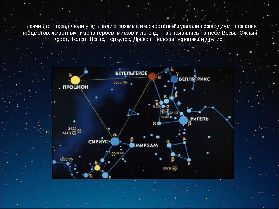 Тысячи лет назад люди угадывали знакомые им очертания и давали созвездиям наз...