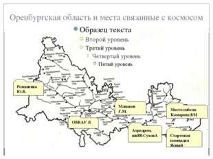Оренбургская область и места связанные с космосом Романенко Ю.В. Манаков Г.М.