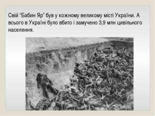 """Свій """"Бабин Яр"""" був у кожному великому місті України. А всього в Україні було"""