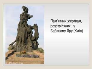 Пам'ятник жертвам, розстріляних, у Бабиному Яру (Київ)