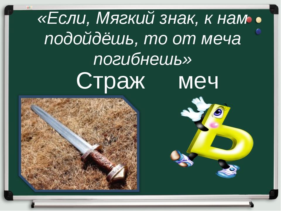 «Если, Мягкий знак, к нам подойдёшь, то от меча погибнешь» Страж меч грач