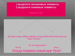 1.выделите незнакомые элементы 2.выделите знакомые элементы  Исправьте схем