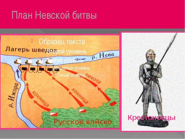 План Невской битвы Крестоносцы