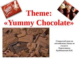 Theme: «Yummy Chocolate» Открытый урок по английскому языку во 2 классе Подго